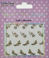 Metallic Nail Sticker Queen Flowers