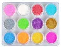 Kit de paillettes - 12 couleurs