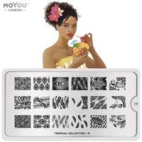 Plaque Stamping Tropical 19 - MoYou London