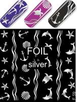 Water Decal F059 silver