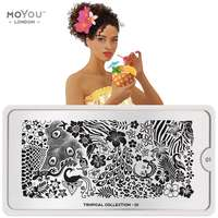Plaque Stamping Tropical 01 - MoYou London