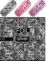 Water Decal F067 silver