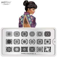 Plaque Stamping Mandala 12 - MoYou London