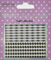 Metallic Nail Sticker Spirals Gold