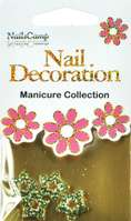 Nail Decoration Inlay Étoile gold/clear