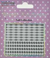 Metallic Nail Sticker Spirals Silver