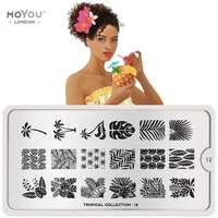 Plaque Stamping Tropical 12 - MoYou London