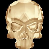 Swarovski Strass Crâne Gold 10 X 7,5 mm (2 pcs)