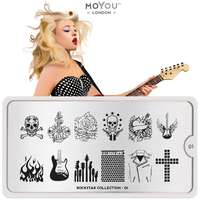Plaque Stamping Rockstar 01 - MoYou London