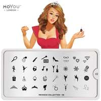 Plaque Stamping Princess 02 - MoYou London