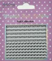 Metallic Nail Sticker Hearts Silver